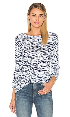 Slub Jersey Long Sleeve in Zebra