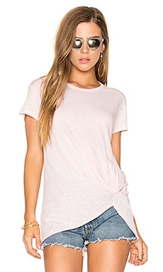 Jersey Twist Tee in Peach
