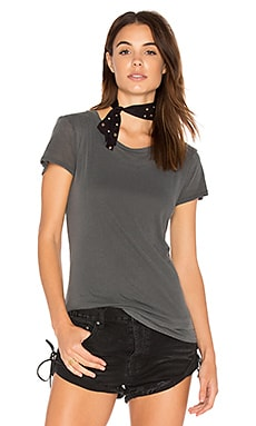 Layered Jersey Tee in Charcoal