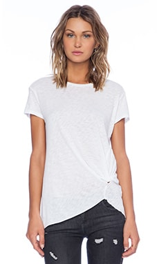 Gathered Tee in White