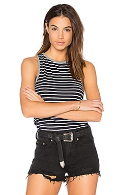 Stripe Tank in Navy