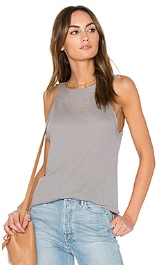 Lightweight Crepe Tank in Silver