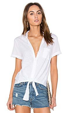 Core Tied Button Up en Blanc