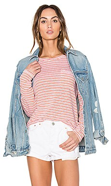 Linen Jersey Long Sleeve Tee в цвете Белый