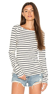 Navy Cream Stripe Tee