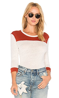 Linen Color Block Top