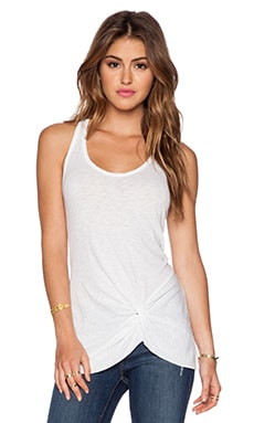 Stateside Knotted Tank in White
