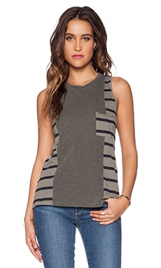 Stateside Navy Stripe Combo Tank in Fern
