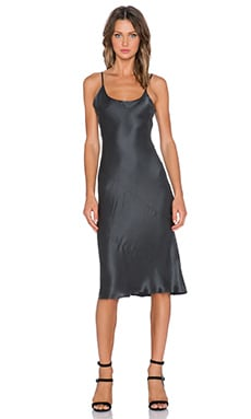 State of Being Paloma Slip Dress in Charcoal