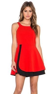 State of Being Outside Dress in Red & Black