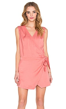 State of Being Folded Lapel Dress in Blush