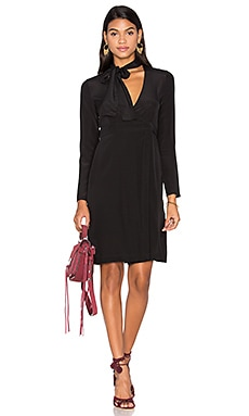 State of Being Georgie Wrap Dress in Black