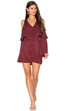 Belle Cold Shoulder Dress in Berry