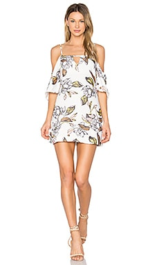 Leafy Floral Mini Dress in Multi