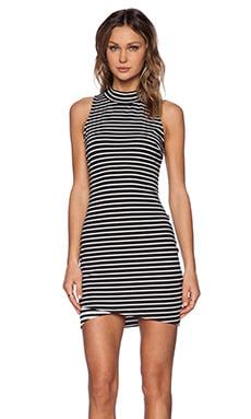 State of Being Stripe Turtleneck Dress in Multi