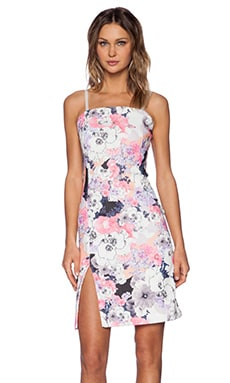 State of Being Blackout Blooms Midi Dress in Multi