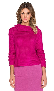 State of Being Cycle Sweater in Fuschia pink