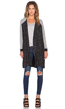 State of Being Contrasting Sweat Coat in Multi