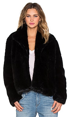 State of Being Powderpuff Faux Fur Jacket in Black