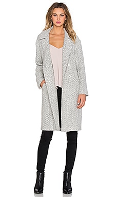 State of Being Dreamer Coat in White & Black