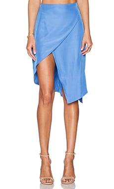 State of Being Crossover Asymmetric Skirt in Blue