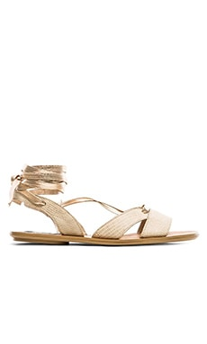 Steven Alaina Sandal in Bone Multi