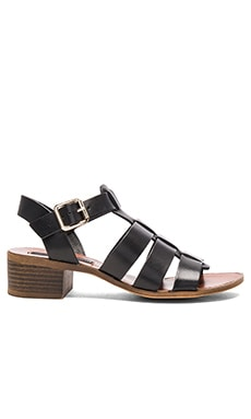 Aminah Sandal in Black Leather