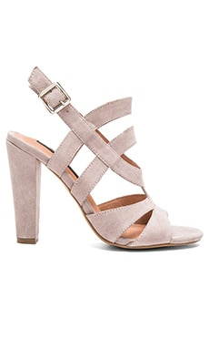 Cassndra Heel in Taupe Suede
