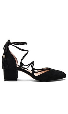 Valo Heel in Black Suede