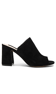 Fume Heel in Black Suede