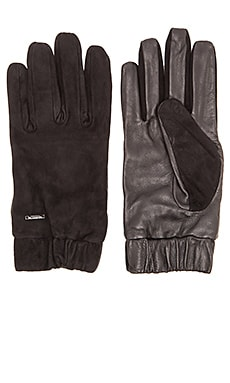 Scotch & Soda Glove in Suede and Leather Quality in Black