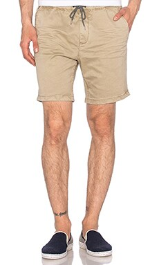 Scotch & Soda Chino Short with Elastic Waistband in Sand