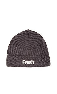 Scotch & Soda Beanie with Chunky Embroidery in Antra