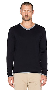 Scotch & Soda V-Neck Pullover with Inner Tee in Night