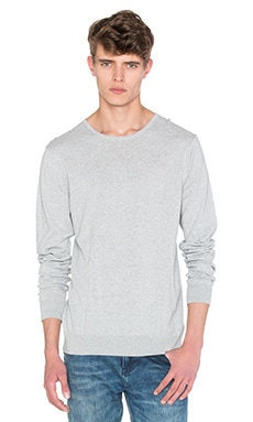 Scotch & Soda Crewneck Pullover in Grey Melange