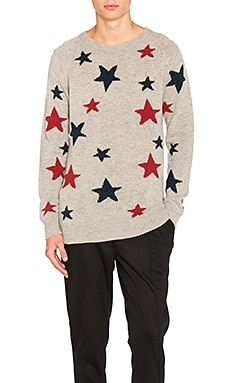 Star Pattern Crewneck Sweater