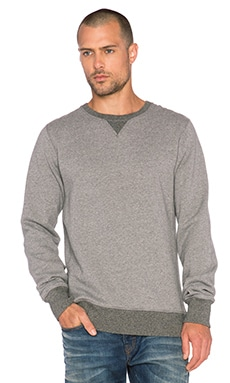 Scotch & Soda Home Alone Crew Neck Sweater in Heather Grey