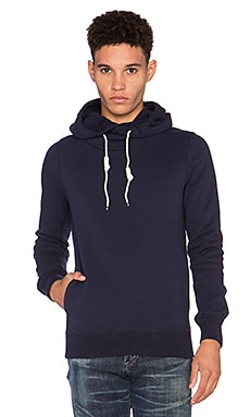 Scotch & Soda Home Alone Zip Twisted Hoody in Navy