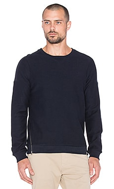 Scotch & Soda Pique Felpa Longsleeve in Night