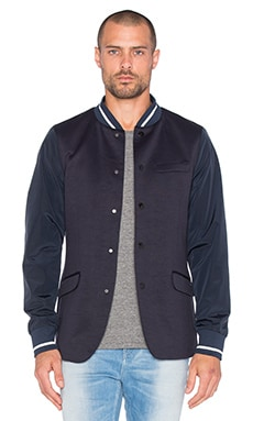 Scotch & Soda Blazer with Bomber Collar in Navy