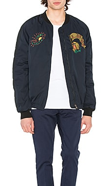 Quilted embroidered bomber jacket - Scotch & Soda