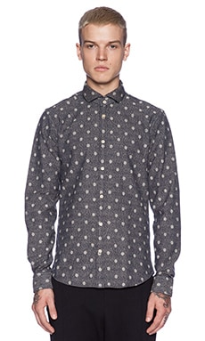 Scotch & Soda L/S Button Down in Grey/White