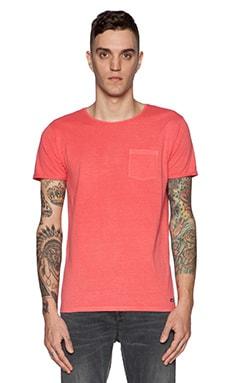 Scotch & Soda Summer Garment Pocket Tee in Red