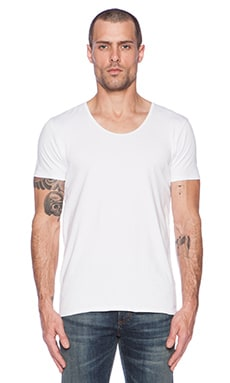 Scotch & Soda Classic Cotton Lycra Crewneck Tee in White