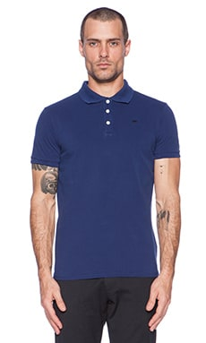Scotch & Soda Classic Garment Dyed Pique Polo in Cobalt