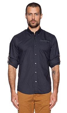 Scotch & Soda Longsleeve Oxford Shirt in Midnight