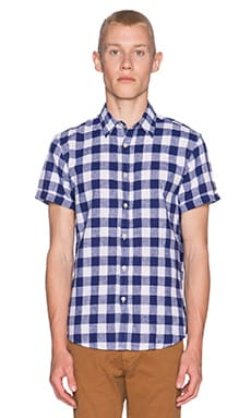 Scotch & Soda Shortsleeve Linen Shirt in