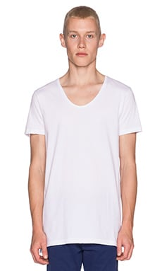 Scotch & Soda Extra Long Lightweight Jersey Deep V-Neck Tee in