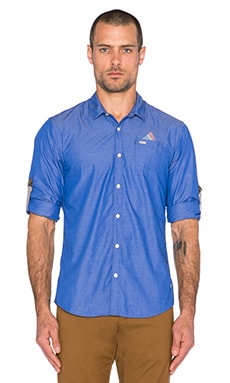 Scotch & Soda Crispy Blue Senor Retro Shirt in Blue