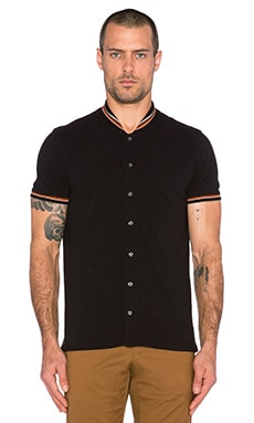 Scotch & Soda Retro Polo Shirt in Black